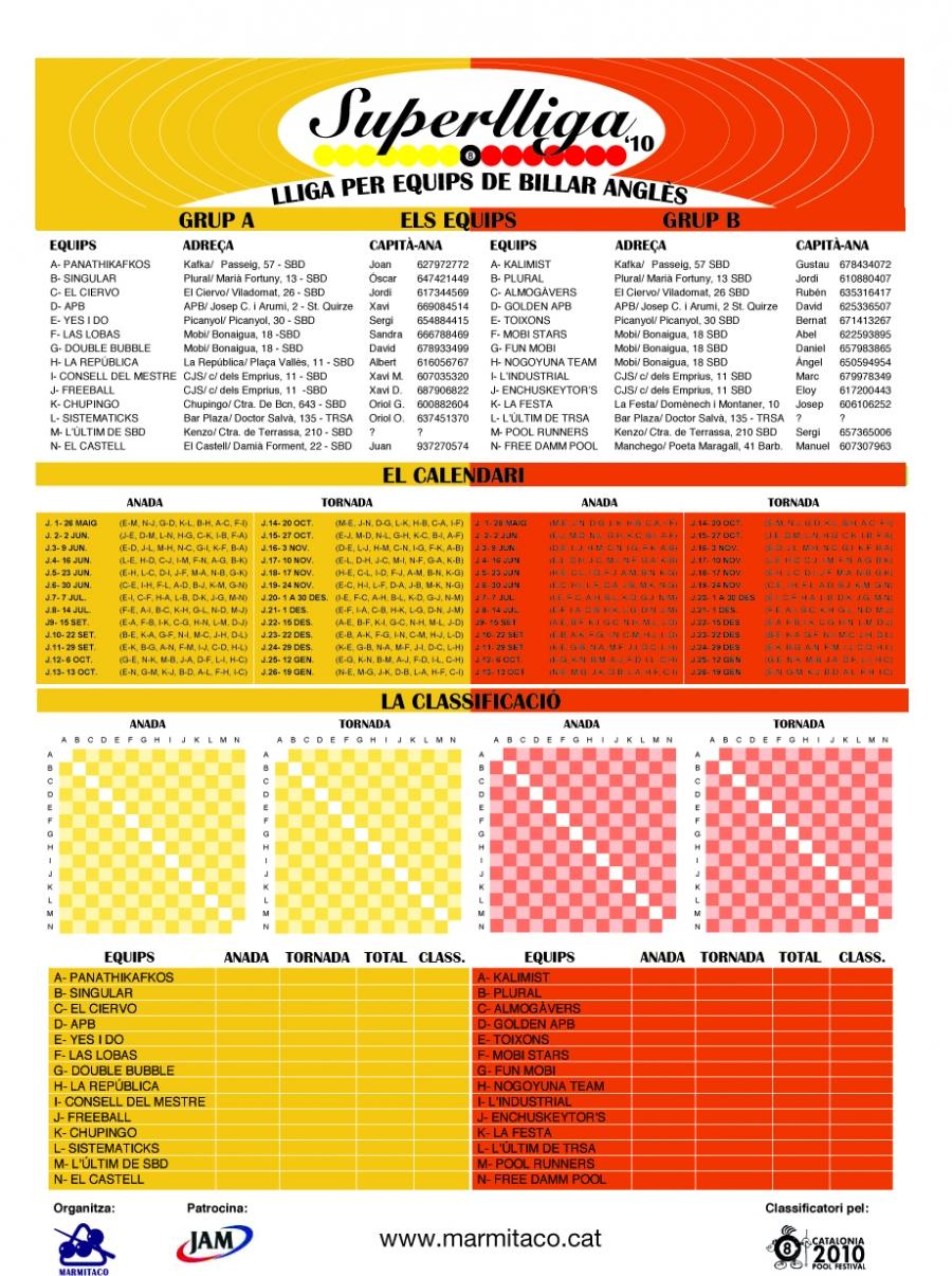 Calendari Superlliga 2010