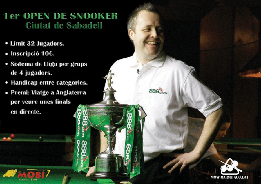 1er Open de Snooker. Ciutat de Sabadell